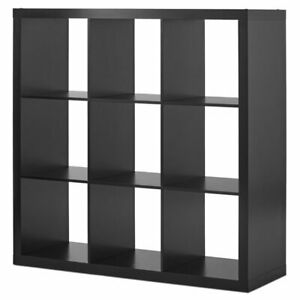 Wood Bookcase Shelving 9 Cube Storage Organizer Display Multiple Finishes New