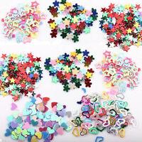 5000PCS Nail Art DIY Mixed Glitter 3mm Heart Star Flower Sequins Stickers Decals