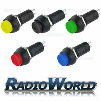 20A 12v Push Button Switch ON - OFF SPST Red Green Blue Yellow Black Car / Dash