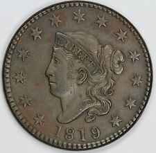 1819/8 1c Coronet or Matron Head N-1 Large Cent Unslabbed