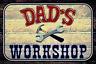 Dads Workshop Letrero de Metal Placa Letrero Arqueado Metal Tin Sign 20 X 30CM