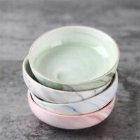 Ceramic Marble Dish Fruit Seasoning Sauce Bowl Plates Japanese Sushi Tableware
