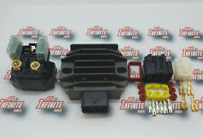 Yamaha Grizzly 350cc Regulator & Starter Solenoid With Plugs Premium Edition Kit