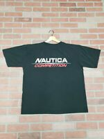Vintage 90s black Nautica Competition Logo Spell Out T Shirt Sz XL OG