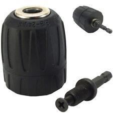"""3/8"""" SCREWDRIVER/DRILL CHUCK Keyless Converter Quick Change Hex Shank Adapter UK"""