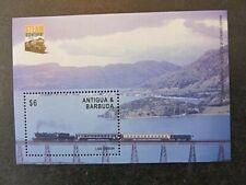 ANTIGUA & BARBUDA, SC# 2765, TRAIN over LAKE EGRIDIR (2004) SOUVENIR SHEET, MINT