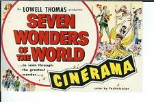 AY-176 - Seven Wonders of the World Cinerama, Modern Chrome Advertising Postcard