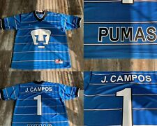 Pumas Unam Mexico Futbol Soccer Used Nike Retro Jersey Small Campos Football