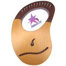 CC Brand New Lyre Harp Sheesham Wood 12 Metal Strings Free Case +Key