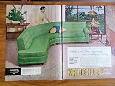 1956 Kroehler Furniture & Mohawk Caprets Ad 1956 GE Portable Radios Ad