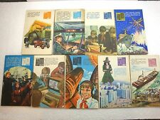 9 x OLD SOVIET UNION RUSSIAN JUNIOR TECHNICIAN MAGAZINE BOOK 1985 RUSSIA USSR
