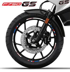 BMW F750GS motorrad Felgen Aufkleber stickers rim streifen f750 GS Motorsport