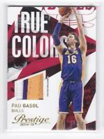 2014 Pau Gasol #/10 Patch Panini Prestige Lakers True Colors