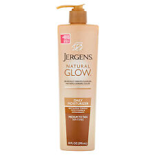 Jergens Natural Glow Daily Moisturizer Medium To Tan Skin Tones, 10.0 FL OZ 295m