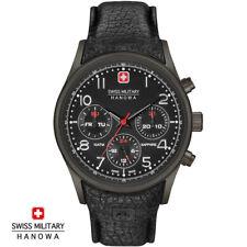 Swiss Military Hanowa 06-4278.13.007 Navalus black Leather Men's Watch NEW
