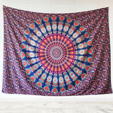 Tapestries Peacock Mandala Tapestry Hippie Wall Hanging  (60x79Inches)