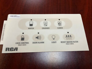 GE Fridge Dispenser Beige Overlay only compatible with WR55X10303, Brand New OEM