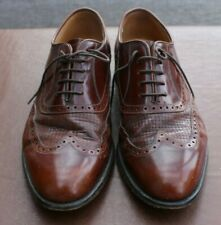 Grenson Brown Leather Brogue shoes size 8.5 G Very Good Condition