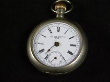 Vintage New York Standard 16 or 18 size Chronograph Pocket Watch Silverode Case