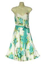 BANANA REPUBLIC WOMEN'S LINED 100% SILK FLORAL DRESS SUN SUMMER GOWN WAIST TIE 4