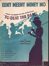 Eeny Meeny Miney Mo 1935 To Beat the Band Sheet Music