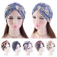 Women Ethnic Turban Hat Satin Inner Hair Care Loss Chemo Cap Head Wrap Cover Hat