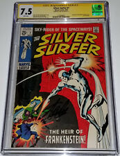 STAN LEE Signed Silver Surfer Vol 1 #7 August,1969 CGC 7.5 VF- Tales o/t Watcher