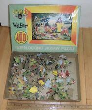 Disney Snow White Seven Dwarves Jigsaw Puzzle -  Jaymar 400 Pieces- Antique Rare