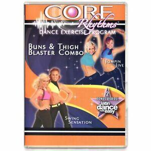 Core Rhythms Latin Dance Exercise Program Weight Loss Bun Thigh Samba Fusion DVD