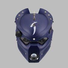 LED 28-43mm Adjustable Motorcycle Pig Head Light Headlight For Harley Honda Blue