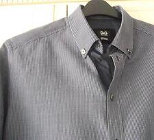 D&G Dolce & Gabbana Navy Blue 'George' Shirt - Size 16 - RRP £160