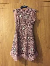 Topshop New Season Lilac Dress With Embellishment - size 8