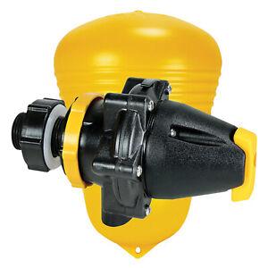 Jobe Valves MFV0075D Megaflow Short Tail Float Trough Valve, 3/4 Inch, Yellow