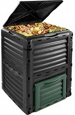 Outdoor Large Garden Composter Bin Box DustBin Waste Pot Recycling Compost New