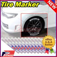 12x White Tire Permanent Paint Marker Pen Car Tyre Rubber Universal Waterproof