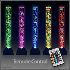 Remote Control Colour Changing LED Bubble Fish Water Tower Floor Lamp Light