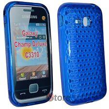 Cover Custodia Per Samsung Champ Deluxe C3310 Blu Gel Silcone TPU