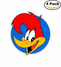 Woody Woodpecker Cartoon Decal Diecut Sticker 4 Stickers