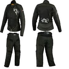 Ladies Motorbike/Motorcycle Cordura jacket trouser Textile CE Armoured Jacket-XS