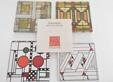 Frank Lloyd Wright ART GLASS DESIGN COASTERS Set of 4 Absorbent CoasterStone