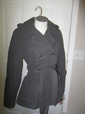 Hydraulics Double Breasted Belted  Trench Coat L Gray NWT