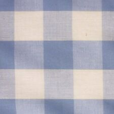 "Light Blue & White 1"" Check Gingham Fabric *P/Metre* XL"