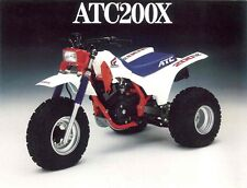 Honda Wings ATC 200X red white blue wings sticker decal tank AHRMA Works HRC