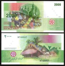 COMOROS  COMORES 2000 Francs 2005 UNC P 17