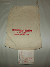 VINTAGE 1973  NORTHEAST NEWS COMPANY KINGSTON NY CLOTH MAIL BAG