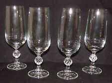 "Crystal Champagne Flutes  BOHEMIA ""CLAUDIA' Pattern Beautiful Elegant Set of 4"