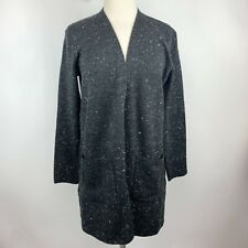 Madewell XS Kent Donegal Black Speckled Open Front  Cardigan Pockets Sold Out