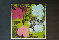 "Andy Warhol  ""Flowers  "" Mounted Color offset Lithograph  1973"