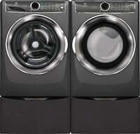 EFLS627UTT + EFME627UTT Laundry Pair With Pedestals(Electric)