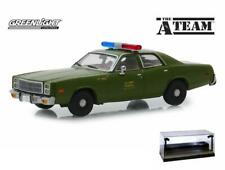 DIECAST CAR W/LED CASE 1977 PLYMOUTH US ARMY POLICE THE A-TEAM 86556 1/43